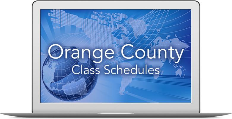 Orange County Class Schedule